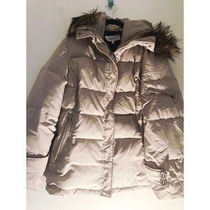 Calvin klein down jacket cream sz XL EUC